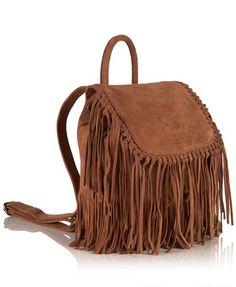c26e474cf2f2 Superdry Premium Suede Neo Nomad Fringed Backpack Brown Fringe Backpack