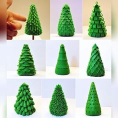 45 DIY Christmas Tree Ideas You Can Try With Your Kids - - Are you in the mood to make some cute and fun Christmas tree crafts? We've rounded-up 45 DIY Christmas tree ideas that you can try to make with your kids. Different Christmas Trees, Polymer Clay Christmas, Christmas Tree Crafts, Polymer Clay Ornaments, Miniature Christmas, Christmas Tree Cake, Christmas Past, Polymer Clay Art, Christmas Wreaths