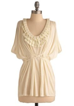 Mod Cloth, Blink of an Ivory Top, $49.99
