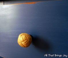 Nautical drawer pulls. (Monkey fist knots)