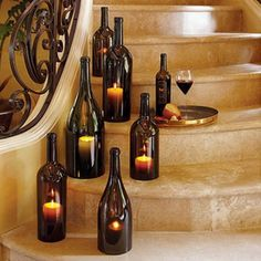 Tutorial om de onderkant van wijnflessen te verwijderen