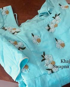 Best 12 Dr Anitha in customized organza hand work blouse . Thanks dear for sharing the pic. Salwar Neck Designs, Churidar Designs, Kurta Neck Design, Saree Blouse Neck Designs, Fancy Blouse Designs, Dress Neck Designs, Bridal Blouse Designs, Stylish Blouse Design, Hand Work Blouse Design