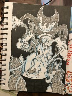 Inktober Day Design for Henry based on interpretation. Bendy Y Boris, Fandom Games, Alice Angel, Just Ink, Felix The Cats, New Backgrounds, Cartoon Games, Bendy And The Ink Machine, Happy Fun