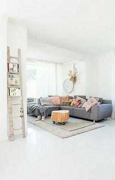 mooie witte betonnen vloer