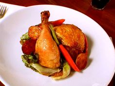 Roast Chicken with Potatoes and Vegetables Recipe - I don't do the escarole, but the chicken is delicious!! on foodnetwork.com