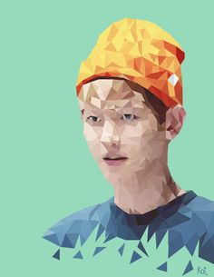 Illustrations. Polygon Art. #baekhyun