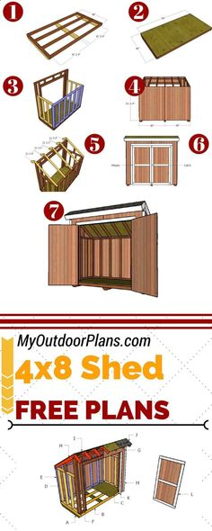 Shed Plans - Build a 4x8 lean to storage shed for the backyard, so you can keep all the tools organized. Full plans at MyOutdoorPlans.com #diy #shed - Now You Can Build ANY Shed In A Weekend Even If You've Zero Woodworking Experience! #woodworkathome #buildsheddiy #buildingashed