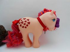 Valentines Day Peachy Custom Pony -  G1 My little Pony Custom - Hearts and Love - Gift for her - Valentine's Gift - I love you Gift by TotallySparkler on Etsy https://www.etsy.com/uk/listing/506965131/valentines-day-peachy-custom-pony-g1-my
