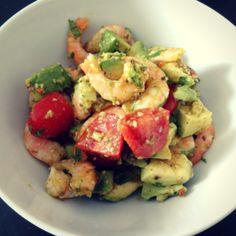 Asiatischer Avocado-Garnelen-Salat