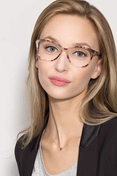 Hepburn Ivory/Tortoise Acetate Eyeglasses from EyeBuyDirect. Exceptional style, quality, and price with these glasses. This frame is a great addition to any collection. Fake Glasses, New Glasses, Glasses Online, Blonde With Glasses, Cute Sunglasses, Sunglasses Women, Vintage Sunglasses, Womens Glasses Frames, Women In Glasses