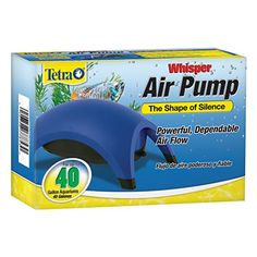 Whisper air pumps provide reliable service at an economical cost. Efficient and easy-to-use Whisper air pumps can handle the aeration needs of aquariums from 10 to 100 gallons....