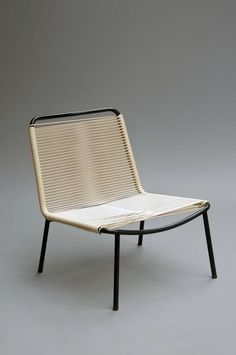 André Monpoix; #151 Enameled Metal and Isogaine Lounge Chair for Meubles TV, c1953.