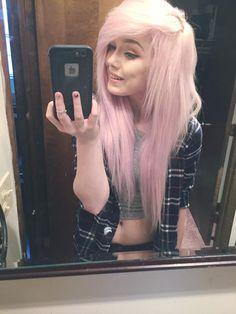 taylorterminate pastel pink scene hair