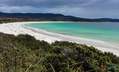 Visit stunning Binnalong Bay, Bay of Fires, Tasmania, Australia Visit Australia, Western Australia, Australia Travel, Queensland Australia, Australian Road Trip, Australian Beach, Best Beaches To Visit, Cool Places To Visit, Us Destinations
