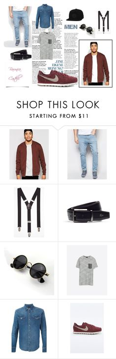 """Classy men"" by barunica-castelli ❤ liked on Polyvore featuring ASOS, Dr. Denim, Express, Lacoste, Zara, NIKE, Converse, men's fashion and menswear"