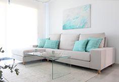 Una casa en blanco y turquesa | Decorar tu casa es facilisimo.com