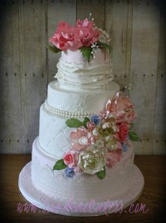 Romantic Wedding Cake - Cake by Sandrascakes