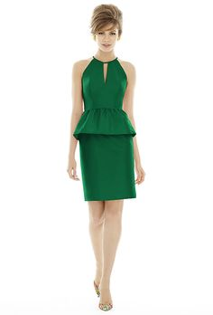 Alfred Sung. Style D689, peau de soie emerald bridesmaid dress, $190, Alfred Sung available at Weddington Way