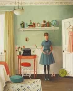 Gorgeous, elegant paintings by Janet Hill, posted on the blog today! http://www.artisticmoods.com/janet-hill/