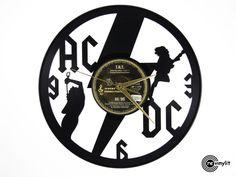 ACDC  vinyl record clock  http://www.revinylit.com
