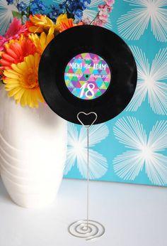 vinyl record wedding table number