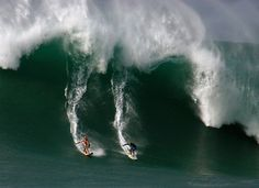 big wave surfing ... Waimea Bay on the North Shore of Oahu, Hawaii