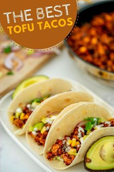 These vegan tofu tacos are the most delicious plant based family meal. Quick and economical to make and loved by the whole family. . Healthy Family Dinners, Healthy Meals For Kids, Family Meals, Kids Meals, Healthy Eating, Healthy Food, Taco Recipe For Kids, Tofu Tacos