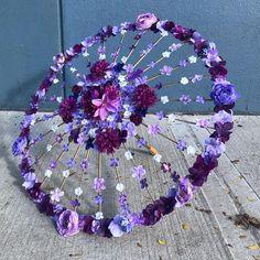 Sneak-a-Peek Parasol Floral Wedding Umbrella Custom Bridal image 1 Flower Crafts, Flower Art, Silk Flowers, Paper Flowers, Floral Umbrellas, Umbrella Decorations, Diy And Crafts, Paper Crafts, Umbrella Wedding
