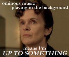 Gotta love Downton Abbey and it's musical predictability.