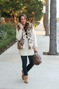 Leopard Fur & Bucco Boots