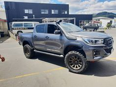 Sometimes you just gotta build a big Hilux. Like 4 inches bigger than normal. Toyota Hilux, Toyota Fortuner 2016, Toyota 4x4, Toyota Trucks, Toyota Tacoma, Hilux Mods, My Dream Car, Dream Cars, Superior Engineering