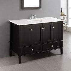 Pic Of Simpli Home Chelsea in Single Bathroom Vanity The grand Simpli Home Chelsea in Single Bathroom Vanity offers enough stylish storage for the whole
