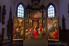 La Virgen con Santos y Ángeles de Hans Memling en el Hospital de San Juan de Flandes, muestra del arte de los primitivos flamencos