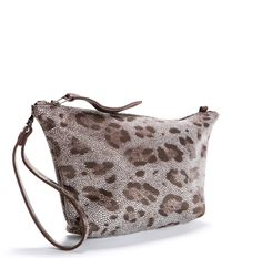 Leopard Leather Clutch
