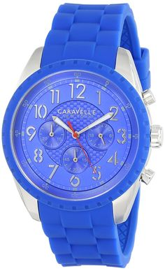 Caravelle New York Men's 43A121 Analog Display Japanese Quartz Blue Watch >>> See this great product.
