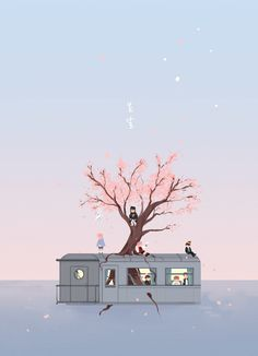 "Fan art of BTS (방탄소년단) from their music video, ""봄날 (Spring Day)"". Kpop Anime, Comic Anime, Image Clipart, Art Clipart, Arte 8 Bits, Fanart Bts, Bts Lyric, Bts Backgrounds, Bts Drawings"