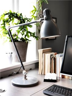 Light up your desk with this modern lamp.