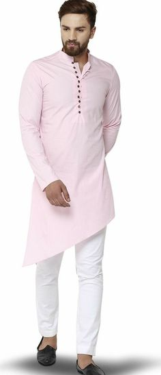 Shop pink cotton designer kurta , freeshipping all over the world , Item code Mens Indian Wear, Indian Groom Wear, Indian Men Fashion, Gents Kurta Design, Boys Kurta Design, Kurta Pajama Men, Kurta Men, Suit Fashion, Mens Fashion