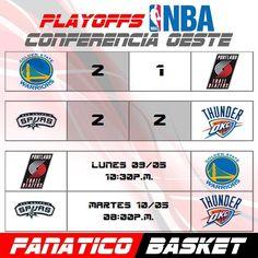 PLAYOFFS CONFERENCIA OESTE NBA #FanaticoBasket #Pasion #Por #El #Baloncesto #NBA #ThisisWhyWePlay #Basket #Basketball #Playoffs #2016 #Sigueme #LunesDeGanarSeguidores #FelizLunes