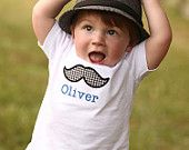 Little Truck Applique Personalized Baby Boy Shirt. New Baby. Baby Shower Gift. $22.00, via Etsy.