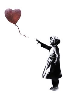 Graffiti artist Banksy has recreated one of his most famous stencils to commemorate the third anniversary of the Syria conflict. Banksy Artwork, Banksy Prints, Graffiti, Syria Conflict, Street Art, Syrian Civil War, Most Popular Artists, Third Anniversary, Heart Balloons