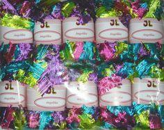 10 sk Fringe Ribbon Angelika Yarn NEWEST Color 802 by JuliaLCraft, $32.00