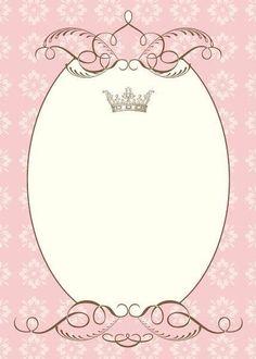 Welcome baby girl Baby Princess, Princess Birthday, Birthday Invitations, Wedding Invitations, Barbie Invitations, Deco Baby Shower, Baby Shower Invitaciones, Baby Shawer, Borders And Frames