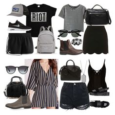 """""""Luke Hemmings Inspired Summer Outfits"""" by fivesecondsofinspiration ❤ liked on Polyvore featuring Under Armour, Patagonia, Longchamp, NIKE, Topshop, Karen Millen, River Island, Alexander Wang, Ray-Ban and Banana Republic"""