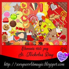 Digital Scrapbooking Freebies, St Nicholas Day, Kit, Design