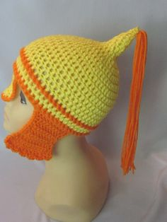 Crochet Viking/Trojan/Earflap Hat/ by MagicalStrings on Etsy, $30.00