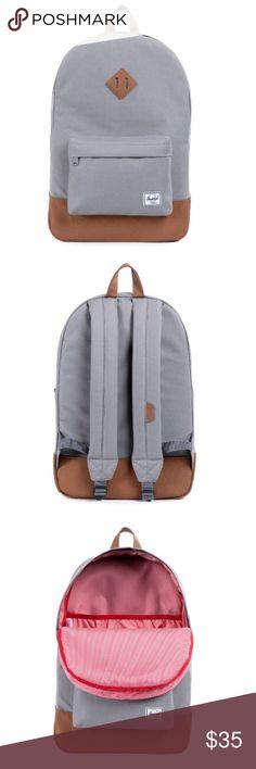 b3deaae33632 Herschel Grey Backpack Bag Herschel Grey Backpack Lightly Used Herschel  Supply Company Bags Backpacks First Day