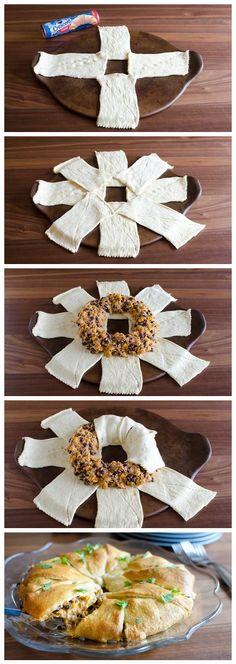 Enchilada Crescent Ring Recipe