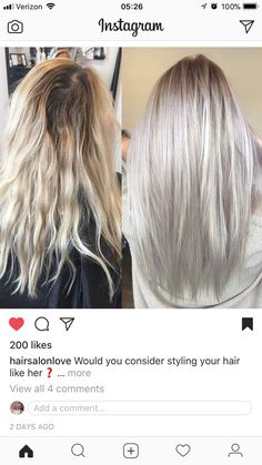 Golden Blonde Balayage for Straight Hair - Honey Blonde Hair Inspiration - The Trending Hairstyle Silver Blonde Hair, Platinum Blonde Hair, Icy Blonde, Silver Platinum Hair, Pearl Blonde, Blonde Hair Inspiration, Blonde Balayage, Hair Looks, Dyed Hair