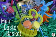 Mini Easter basket - made with paper cup & craft sticks